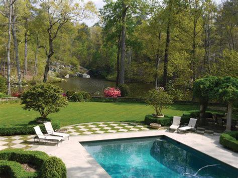 poolside landscaping photos hgtv