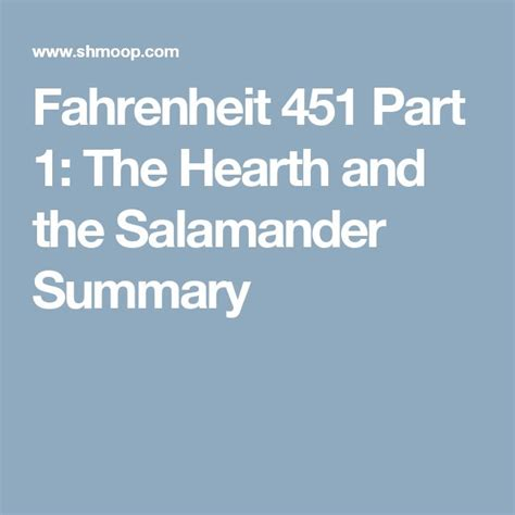 Theme Of Fahrenheit 451 The Hearth And The Salamander | fahrenheit 451 part 1 the hearth and the salamander