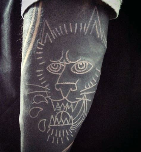white tattoos for men 100 white ink tattoos for cool colorless design ideas