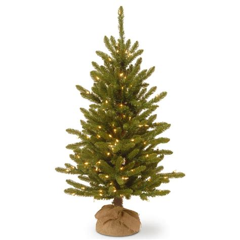 4 or 5 ftrustic christmas trees national tree company 4 ft kensington burlap artificial tree with clear lights knt3