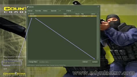 cara membuat jaringan lan untuk counter strike cara bermain multyplayer game conter strike edyn laskar