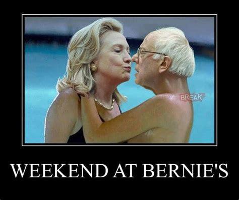 Funny Weekend Memes - hillary s weekend at bernie s funny meme desktop backgrounds