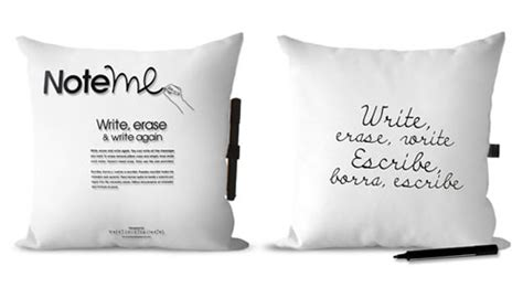 Note Me Pillow by Note Me Pillow Design Milk