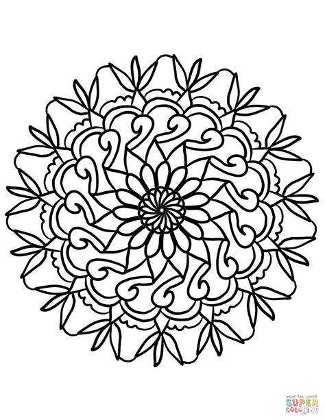 fiori da disegnare facili disegno di mandala con fiori semplici da colorare disegni