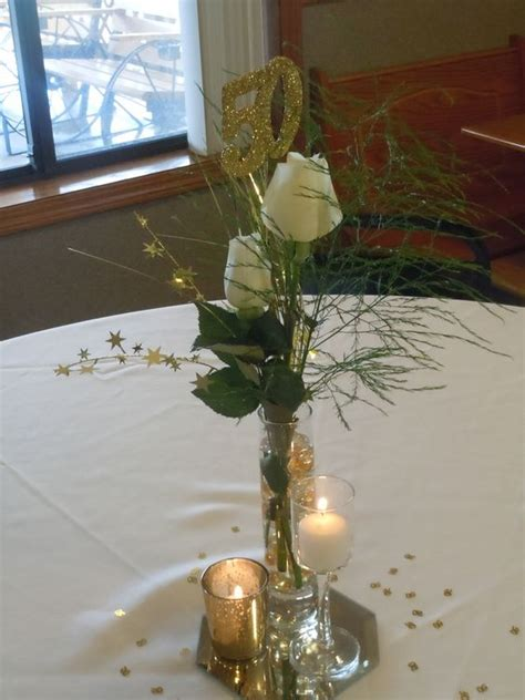 50th Anniversary Centrepieces And Anniversaries On Pinterest 50th Birthday Centerpiece Ideas