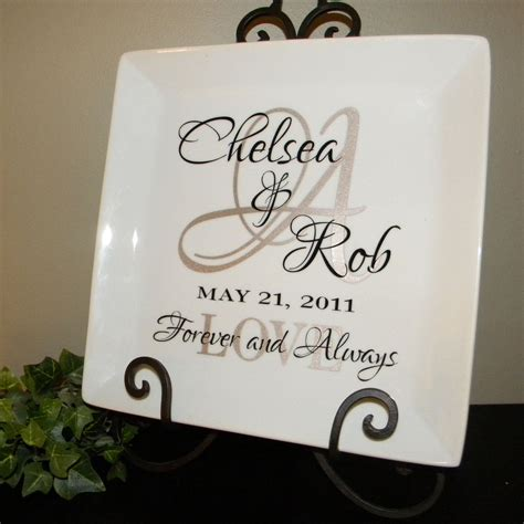 Wedding Anniversary Gift With Name by Personalized Wedding Gift Plate Anniversary Gift For