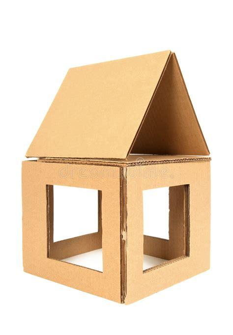 huis van karton het huis van het karton stock foto afbeelding bestaande