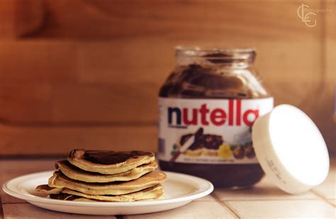 pancakes with nutella wallpapers and images wallpapers