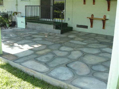 Painting Cement To Look Like Rock Thriftyfun Can You Paint Patio Pavers