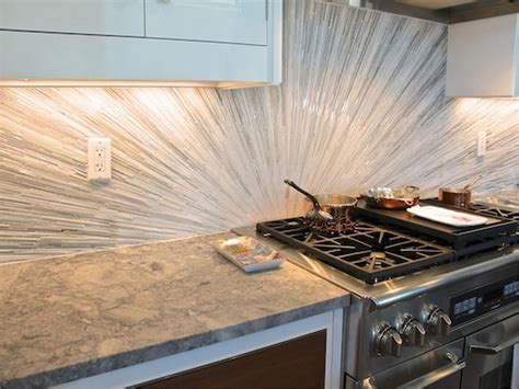 backsplash tile ideas for kitchens kzines ocean mini glass subway tile kitchen backsplash subway