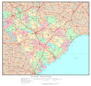 large map of carolina large detailed administrative map of south carolina state