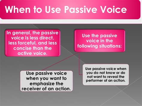 sentence pattern passive voice the structure of passive voice