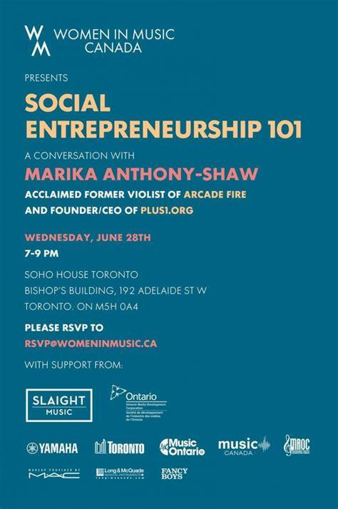 Mba Social Entrepreneurship Canada in canada presents social entrepreneurship