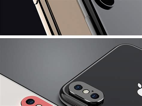 iphone xs max  rear camera protective metal lens ring