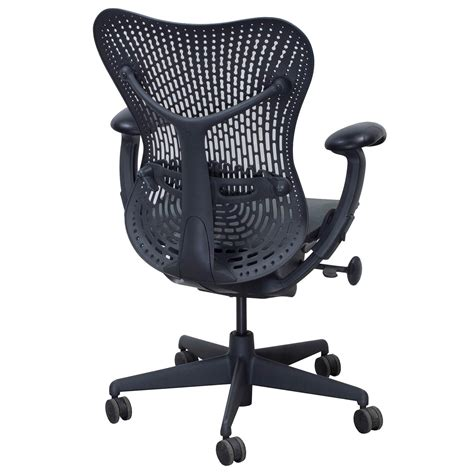 Herman Miller Mirra Chair by Herman Miller Mirra Used Mesh Seat Task Chair Graphite