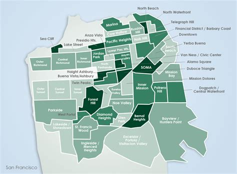 neighborhoods in san francisco map sf neighborhood map that we might disagree on interesting