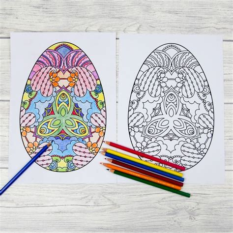 intricate easter coloring pages adult easter colouring pages intricate eggs mum in the