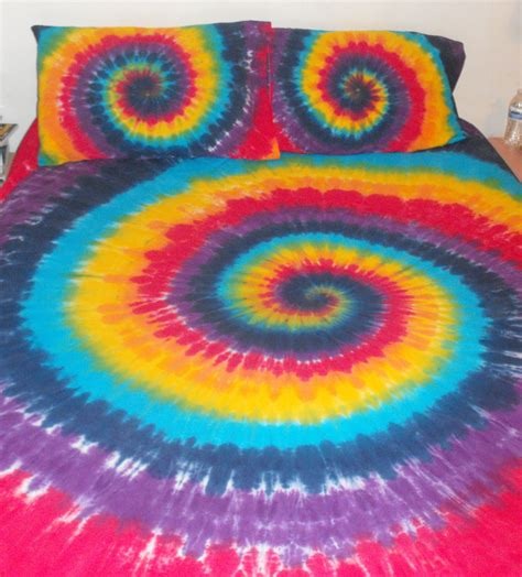 tie dye comforter rainbow tie dyed duvet cover king size by inspiringcolor