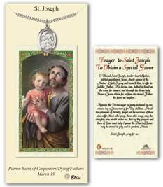 st joseph special prayer card pendant gift set