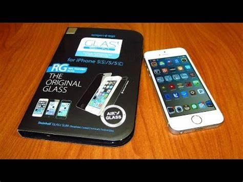 Jual Spigen Tempered Glass Iphone 5s unboxing review spigen glasst tempered glass screen protector for iphone 5s 5c 5