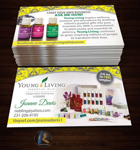 plants business card young living tools