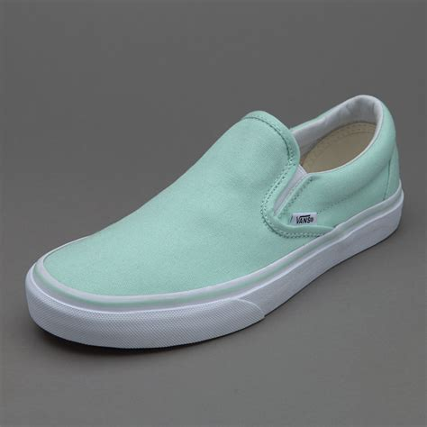 Vans Slop For vans classic slip on cyan womens shoes vans