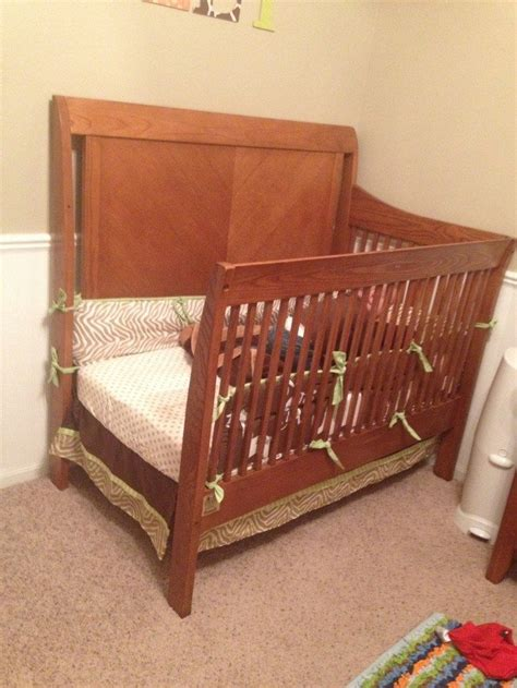 crib turned into toddler bed turn an old crib into a toddler bed diy projects for