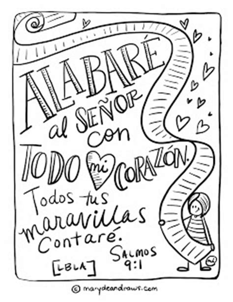 bible verse coloring pages in spanish marydean draws