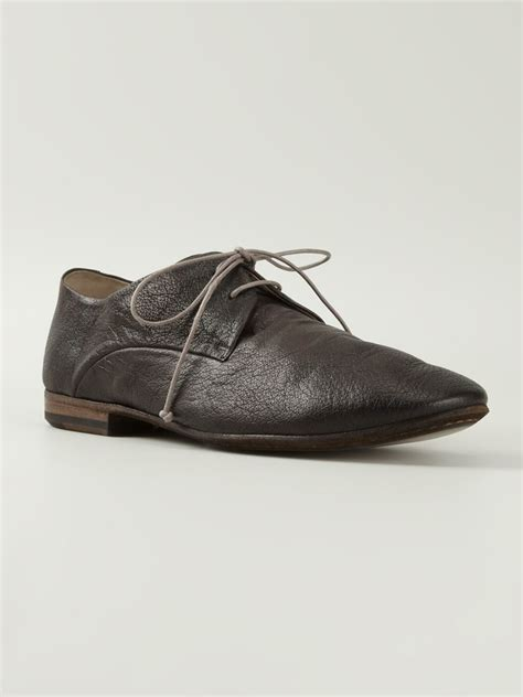 marsell soft leather lace up shoes in brown lyst