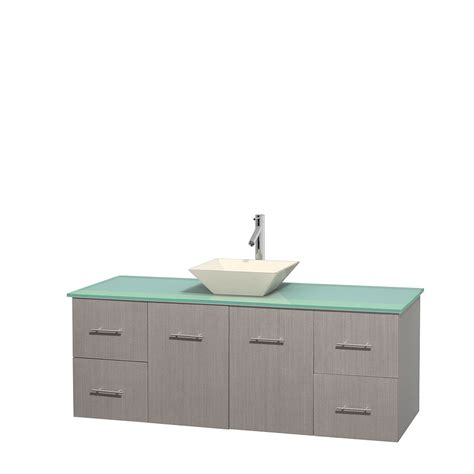Green Glass Vanity Top by 60 Quot Wyndham Wcvw00960sgoggd2bmxx Centra Single Vanity