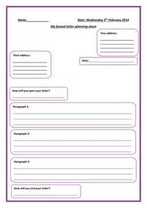 formal letter planning sheet by little dreamer teaching