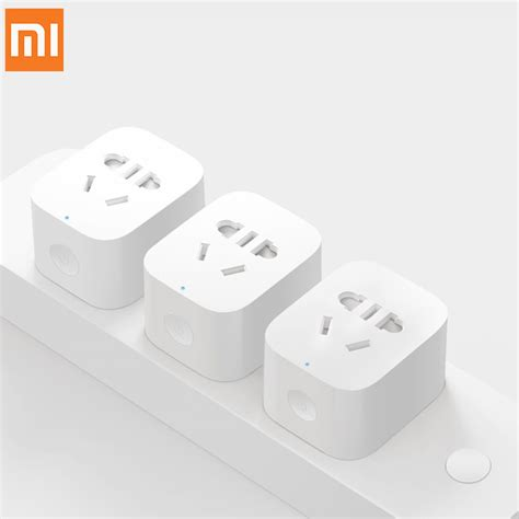Xiaomi Mi Smart Power Adapter With Remote Co Promo original xiaomi mi smart socket remote by phone app small intelligent outlet with