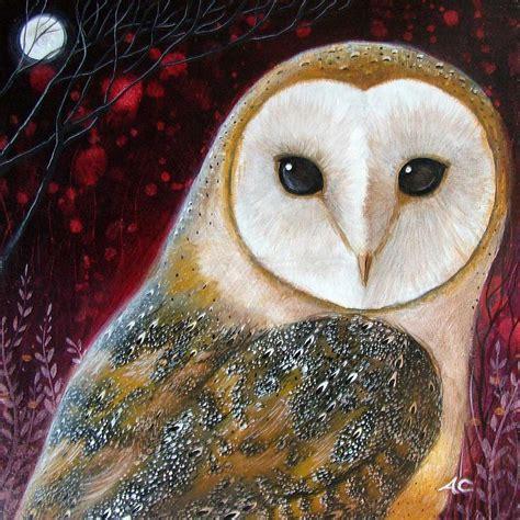 Owl Power Animal By Amanda Clark Animal Painting For