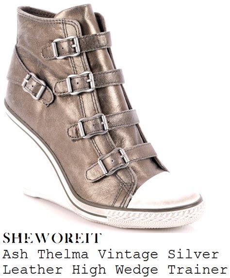Sw Hem Thelma sheworeit tulisa contostavlos ash thelma vintage silver distressed leather high wedge zip up