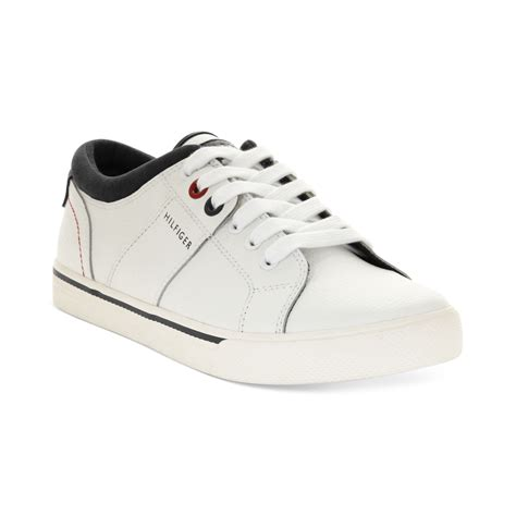 white hilfiger shoes hilfiger robbie sneakers in white for lyst