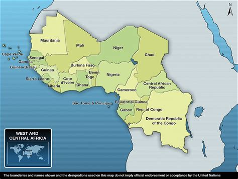 west africa map pdf unicef humanitarian report 2010 west and