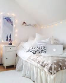white bedroom lights house