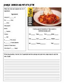 80 free cooking worksheets