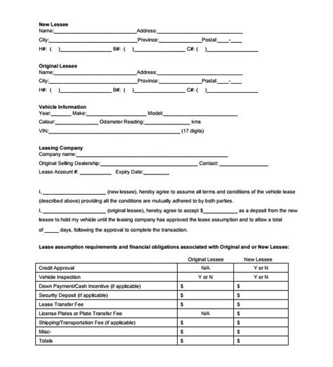 sle blank lease agreement template 7 free documents
