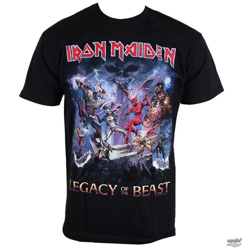 Tshirt Iron Maiden 2 t shirt metal s iron maiden legacy of the beast rock imtee55mb metal shop eu