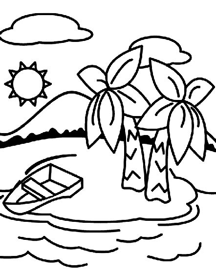 deserted island coloring page crayola com