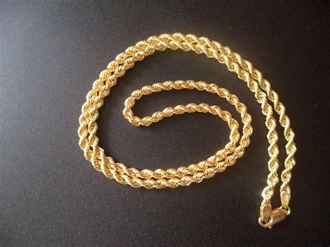 cadena torsal broche perico oro italiano 10k 60 cms c - Cadena Torsal