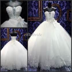 Cheap Flowers Delivery Sell Princess Wedding Dresses 2015 Spring Elegant Ball Gowns Bling Beaded Crystal Sweetheart