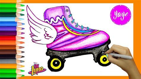 imagenes de soy luna los patines dibuja y colorea soy luna de arco iris dibujos para