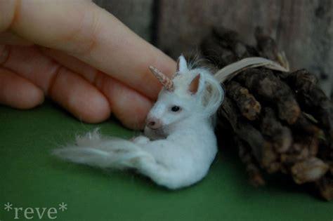 Handmade Sculpture - baby unicorn handmade sculpture by reveminiatures on