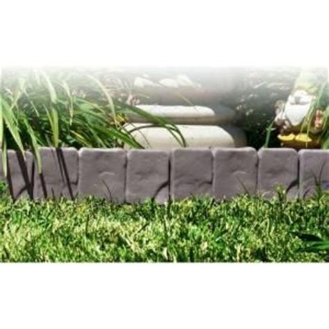 home depot flower bed edging pure garden 10 in x 95 in cobblestone flower bed border