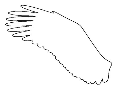 wings template free eagle wing pattern use the printable outline for crafts