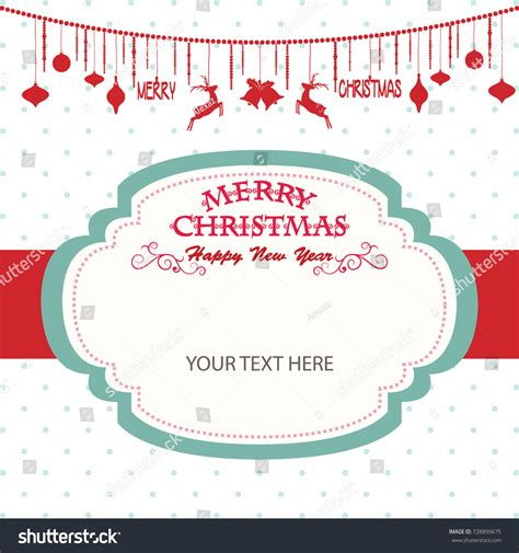 Merry Christmas Happy New Year Cardchristmas Stock Vector 728899675 Shutterstock Merry Tags Template