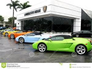 Lamborghini Store Usa Lamborghini Store In Miami Editorial Stock Image Image
