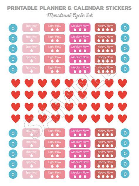 printable calendar stickers printable planner stickers calendar stickers menstrual